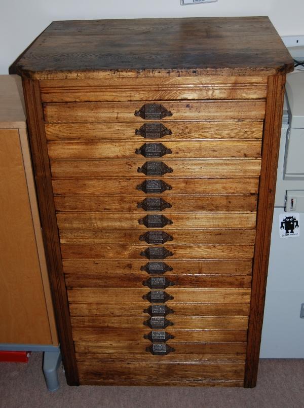 Attirant Finished Hamilton Printeru0027s Cabinet